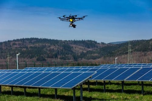 PV power plant monitoring drone